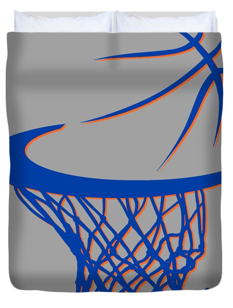 Knicks Basketball Hoop Duvet Cover