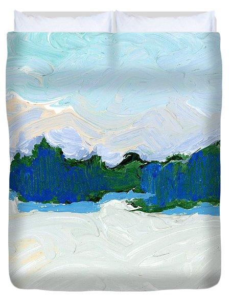 Knife Lake Duvet Cover