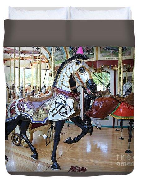 Knightly Carousel Horse Duvet Cover