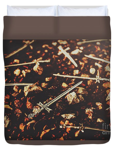 Knightly Fight Duvet Cover