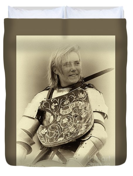 Knights Of Old 17 Duvet Cover by Bob Christopher