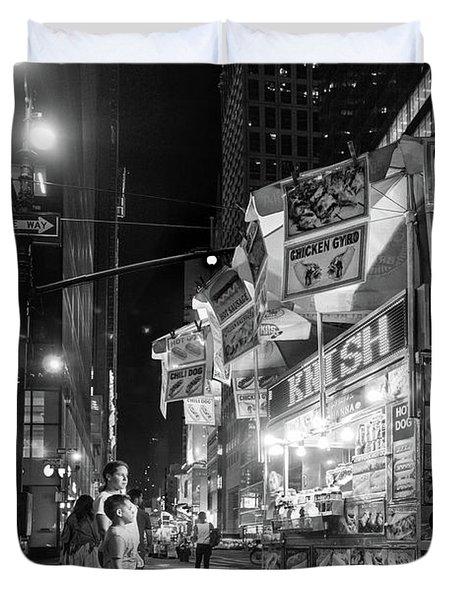Knish, New York City  -17831-17832-bw Duvet Cover