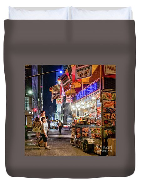 Duvet Cover featuring the photograph Knish, New York City  -17831-17832-sq by John Bald