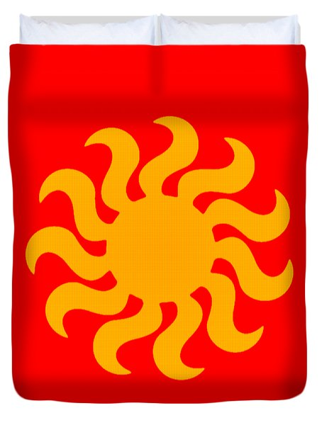 Knitted Sun Duvet Cover by Anton Kalinichev