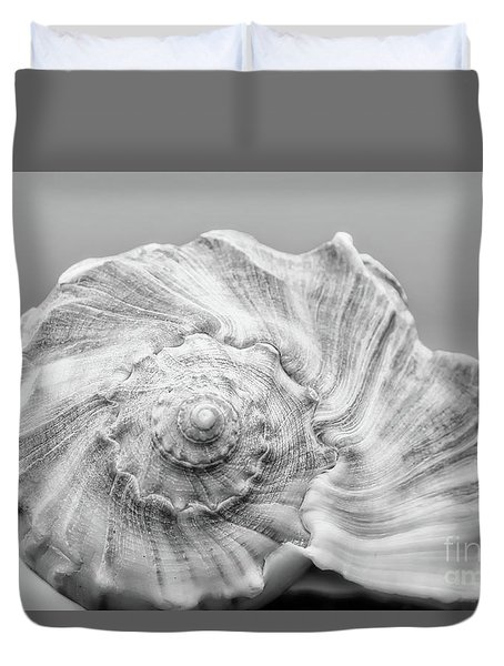 Duvet Cover featuring the photograph Knobbed Whelk by Benanne Stiens