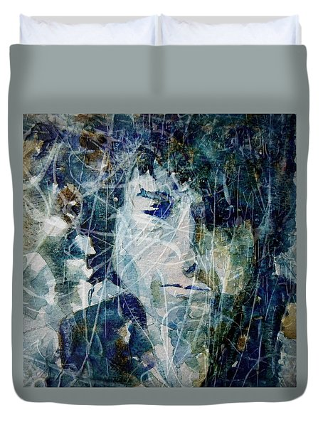 Duvet Cover featuring the painting Knocking On Heaven's Door by Paul Lovering