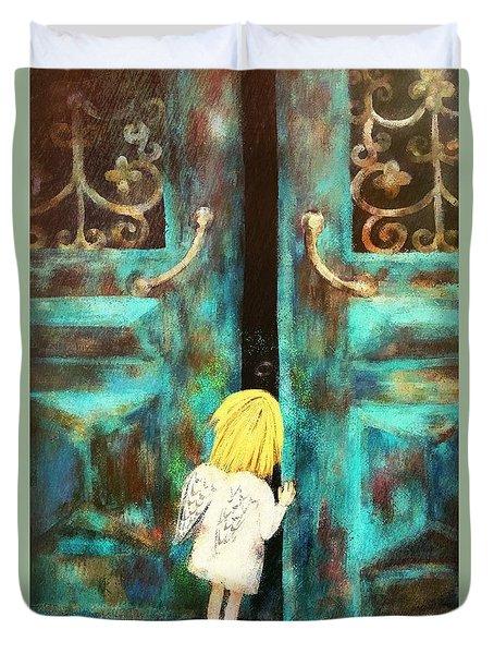 Knocking On Heaven's Door Duvet Cover