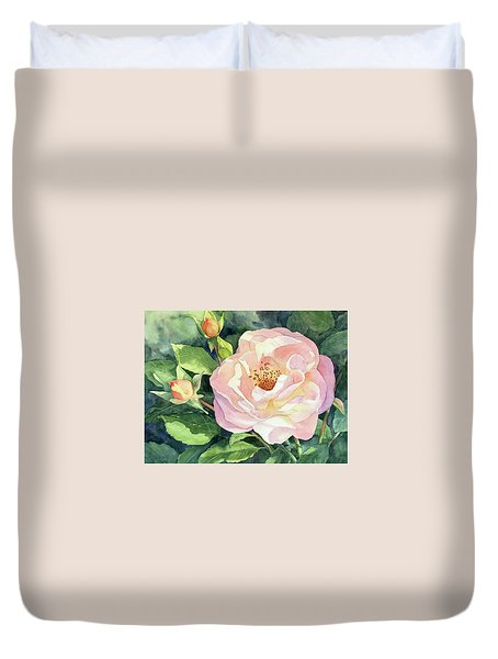 Knockout Rose And Buds Duvet Cover