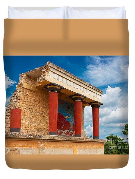 Knossos Palace At Crete, Greece Duvet Cover