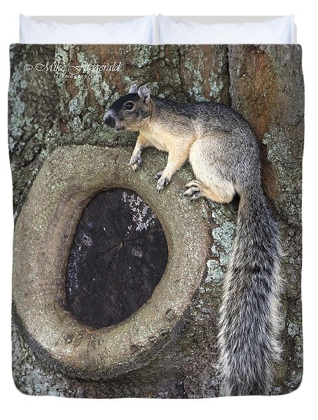 Knot A Squirrel Duvet Cover