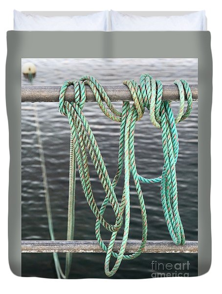Duvet Cover featuring the photograph Knot Of My Warf II by Stephen Mitchell