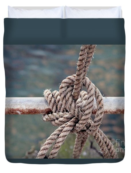 Duvet Cover featuring the photograph Knot Of My Warf by Stephen Mitchell