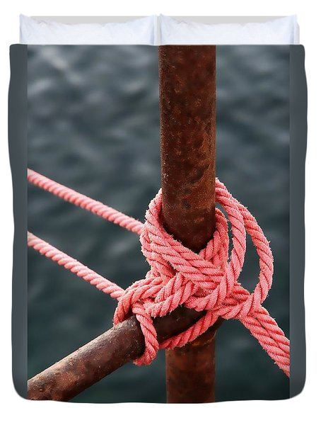 Duvet Cover featuring the photograph Knot On My Warf IIi by Stephen Mitchell
