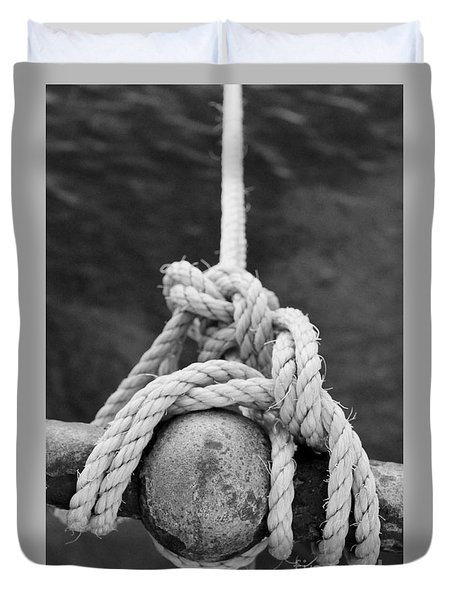 Duvet Cover featuring the photograph Knot On My Warf Iv by Stephen Mitchell