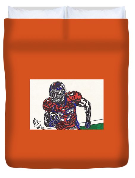 Knowshon Moreno 2 Duvet Cover by Jeremiah Colley
