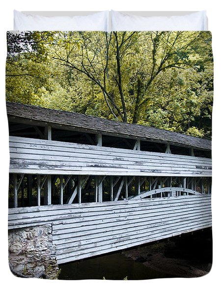 Knox Covered Bridge - Valley Forge Duvet Cover by Bill Cannon