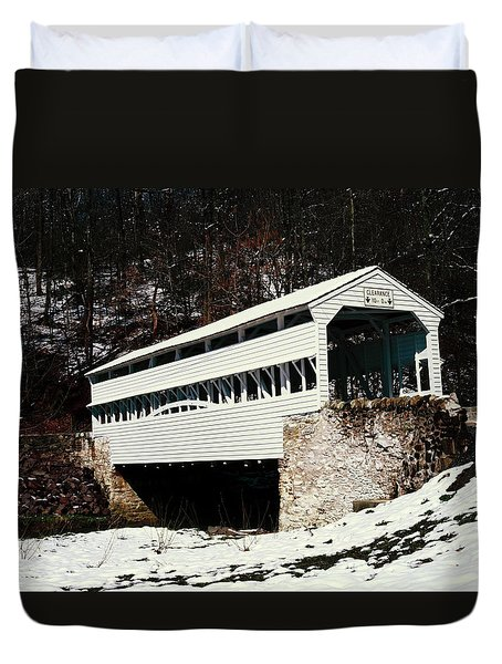 Knox Covered Bridge Historical Place Duvet Cover