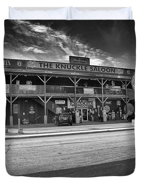 Knuckle Saloon Sturgis Duvet Cover by Richard Wiggins
