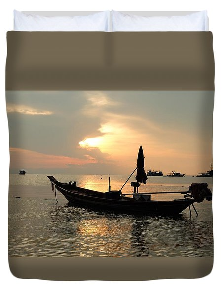 Ko Tao In Evening Duvet Cover