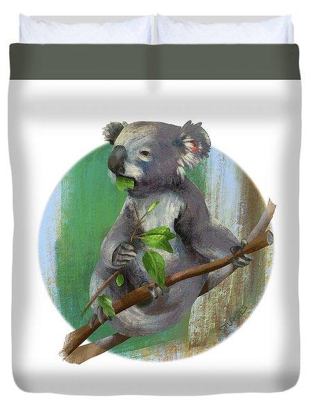 Koala Eating Duvet Cover
