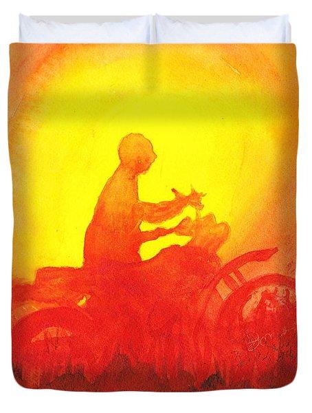 Koala Lumpur Sunset Duvet Cover by Donna Walsh