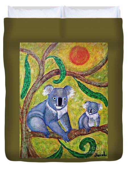 Koala Sunrise Duvet Cover by Sarah Loft