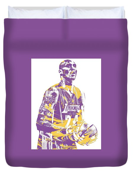 Kobe Bryant Los Angeles Lakers Pixel Art 22 Duvet Cover