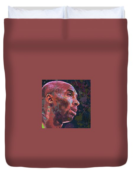 Duvet Cover featuring the painting Kobe by Richard Day