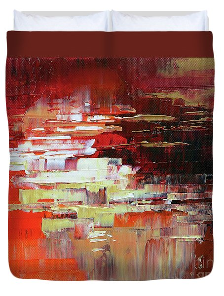 Duvet Cover featuring the painting Kodachrome by Tatiana Iliina