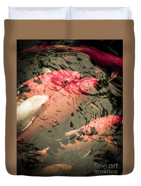 Koi Carps Duvet Cover