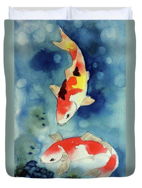 Koi Fish 3  Duvet Cover