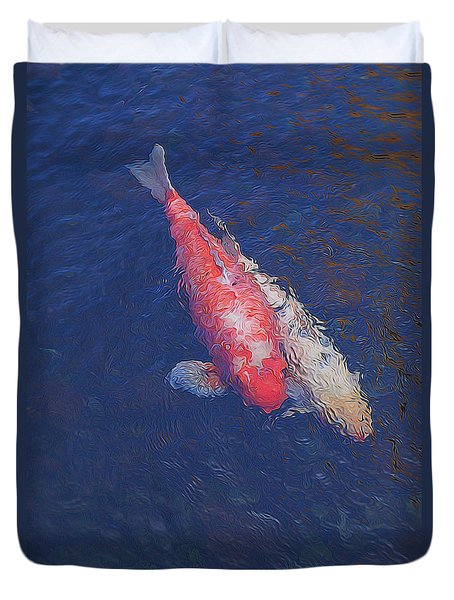 Koi Fish Partners Duvet Cover