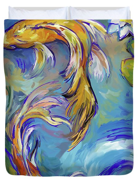 Koi Fish2 Duvet Cover