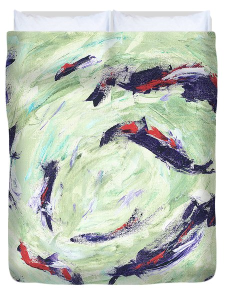 Koi Joy Duvet Cover
