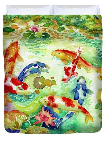 Koi Pond I Duvet Cover