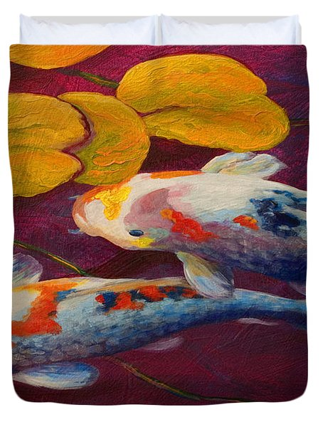 Koi Pond II Duvet Cover