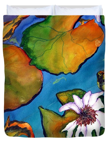 Koi Pond II Sold Duvet Cover by Lil Taylor