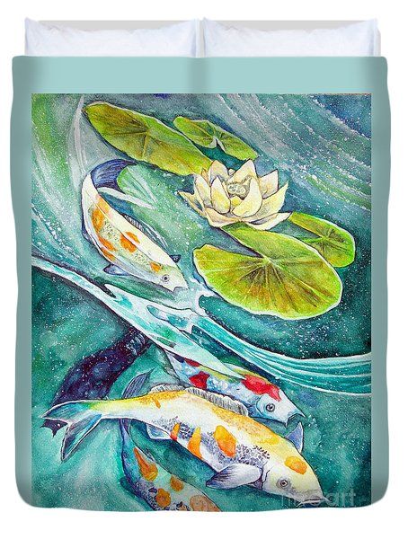 Koi Pond Duvet Cover