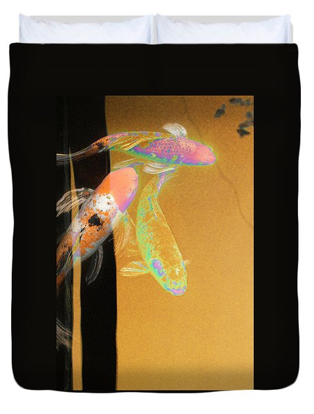 Koi Vi Yellow Duvet Cover