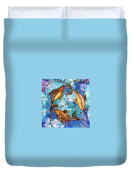 Koiful Duvet Cover by Pat Purdy