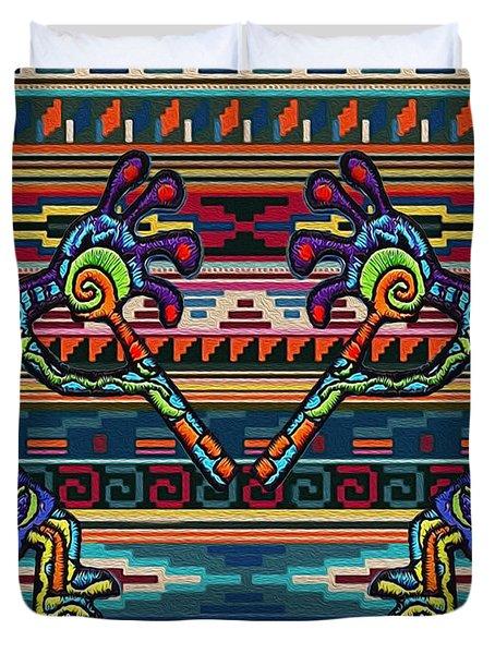 Kokopelli Art Duvet Cover