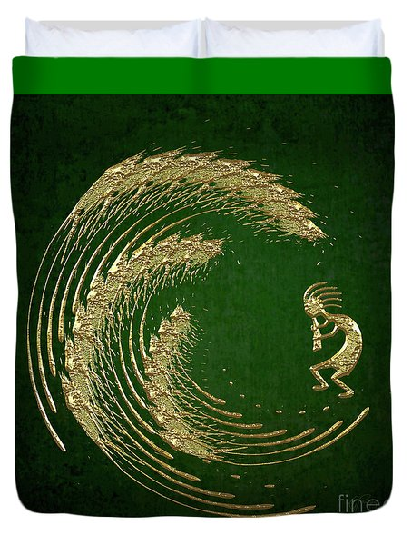 Kokopelli Spring Celebration Abstract Duvet Cover