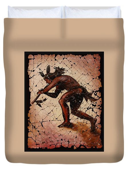 Kokopelli The Flute Player  Duvet Cover by Lena  Owens OLena Art
