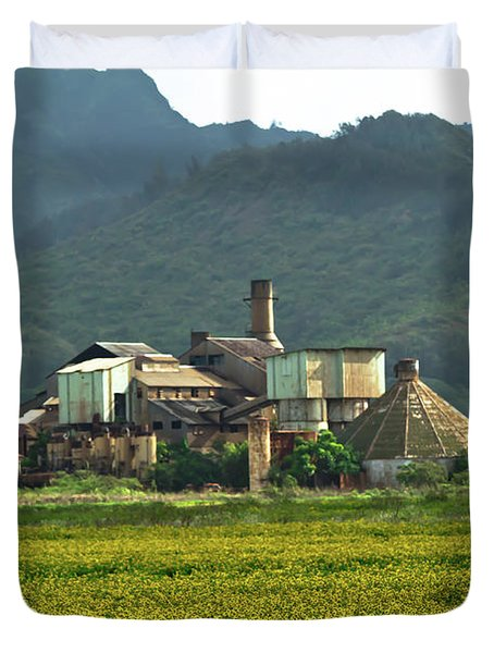 Koloa Sugar Mill Duvet Cover by Roger Mullenhour