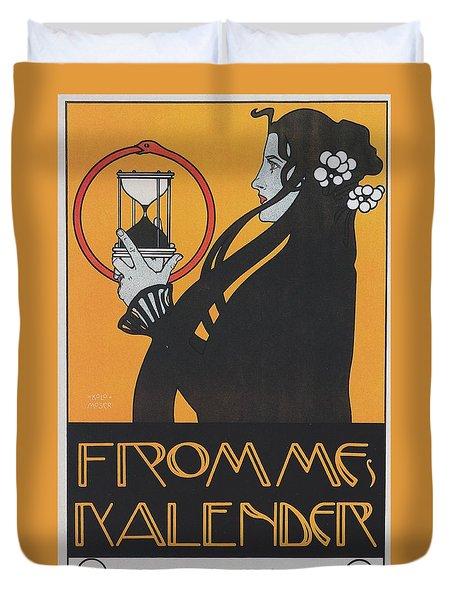 Koloman Moser Plakat  Fur Frommes Kalender 1899 Duvet Cover