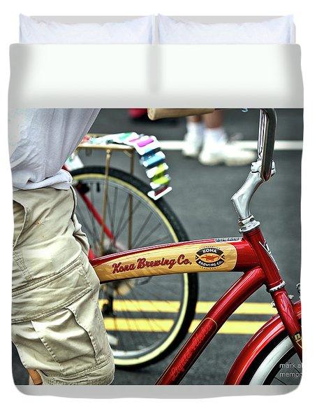 Kona Beer Bike Duvet Cover