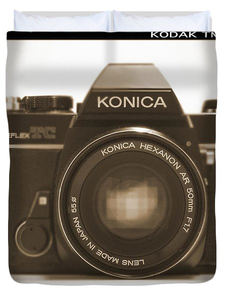 Konica Tc 35mm Camera Duvet Cover by Mike McGlothlen