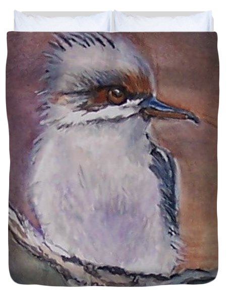 Duvet Cover featuring the painting Kookaburra Fancy by Leslie Allen