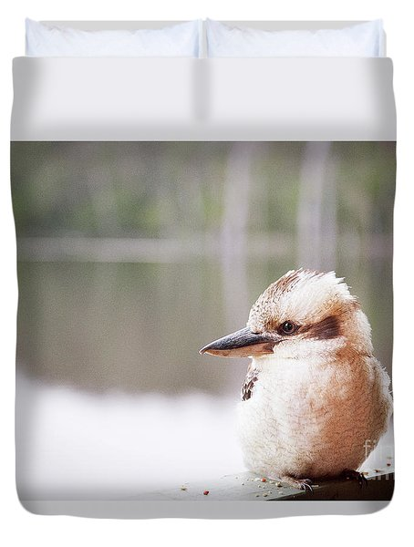 Duvet Cover featuring the photograph Kookaburra by Ivy Ho
