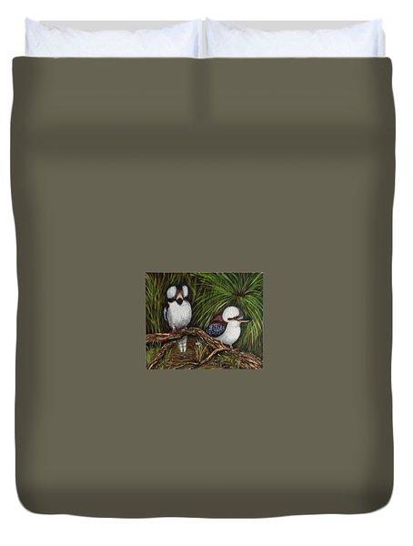 Kookaburras Duvet Cover by Renate Voigt